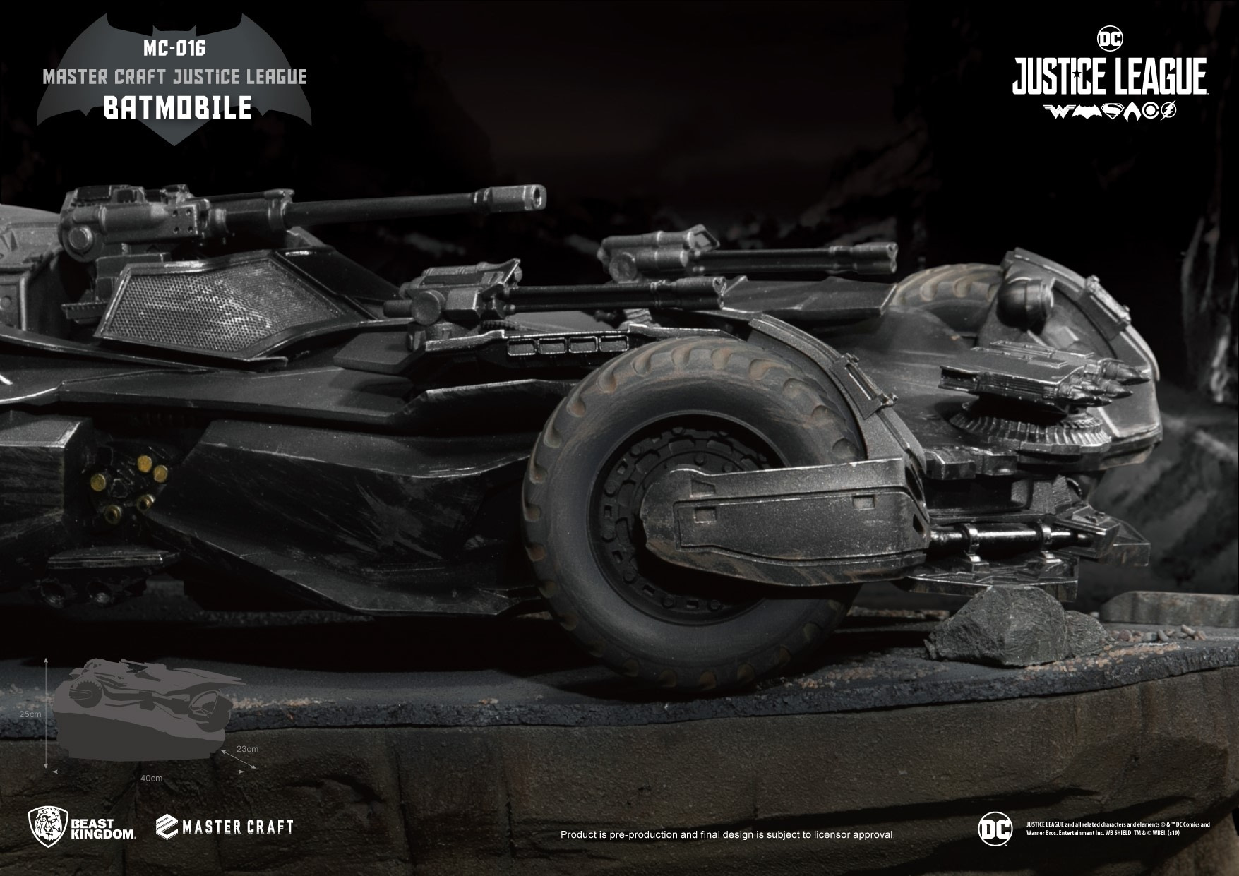 "Batmobile from ""Justice League"" Gets a New Collectible from Beast Kingdom"