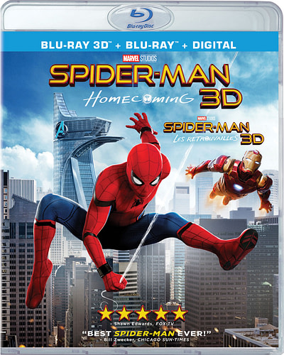 spider-man homecoming 3d home release