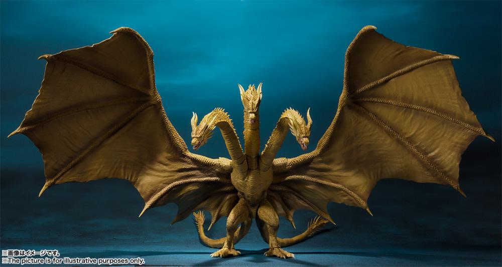 SH MonsterArts Godzilla King Ghidorah 1