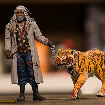 Walking Dead Ezekiel and Shiva Bloody two pack NYCC exclusive 2