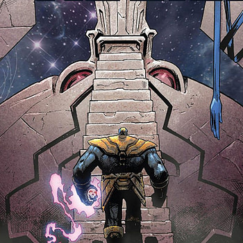 Thanos #13 cover by Geoff Shaw and Antonio Fabela