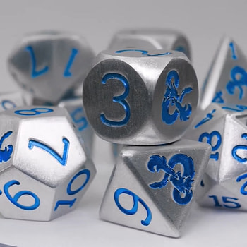 """Dungeons & Dragons"" Reveal Sapphire Anniversary Dice Set"