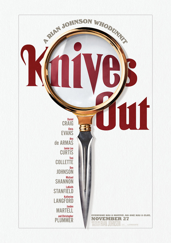 """11 New Character Descriptions and Posters for Rian Johnson's """"Knives Out"""""""