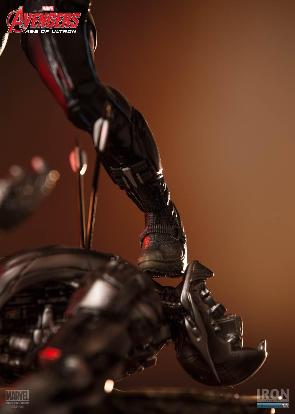 Black Widow Takes on Ultron in New Iron Studios Statue