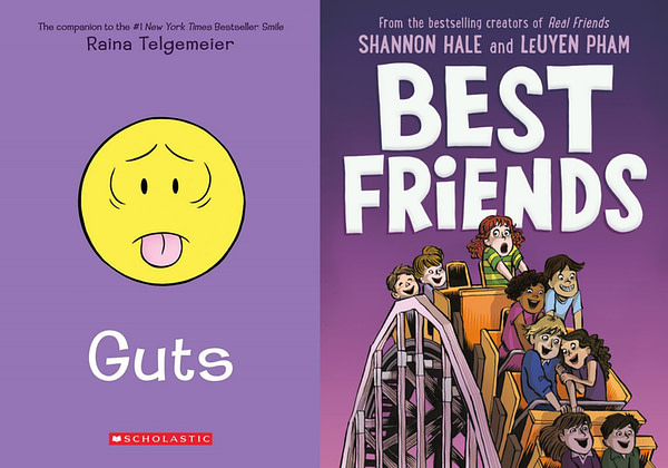 "It Takes ""Best Friends"" With ""Guts"" to Top the Returning New York Times Graphic Novel Bestseller List"