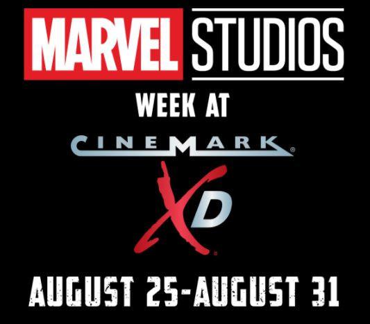 marvel studios week cinemark xd