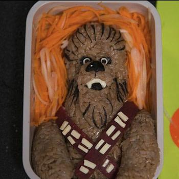 disney star wars solo Chewbacca bento box