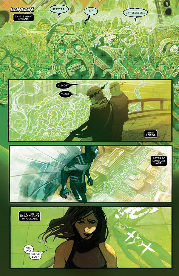 Astonishing X-Men #6 art by Mike del Mundo and Marco D'Alfonso