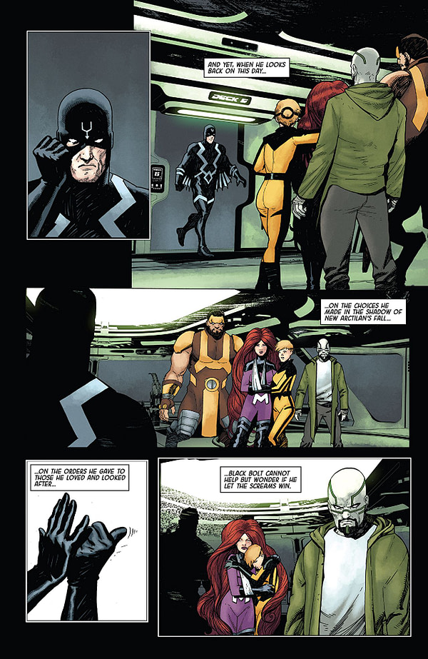 Death of the Inhumans #2 art by Ariel Olivetti and Jordie Bellaire