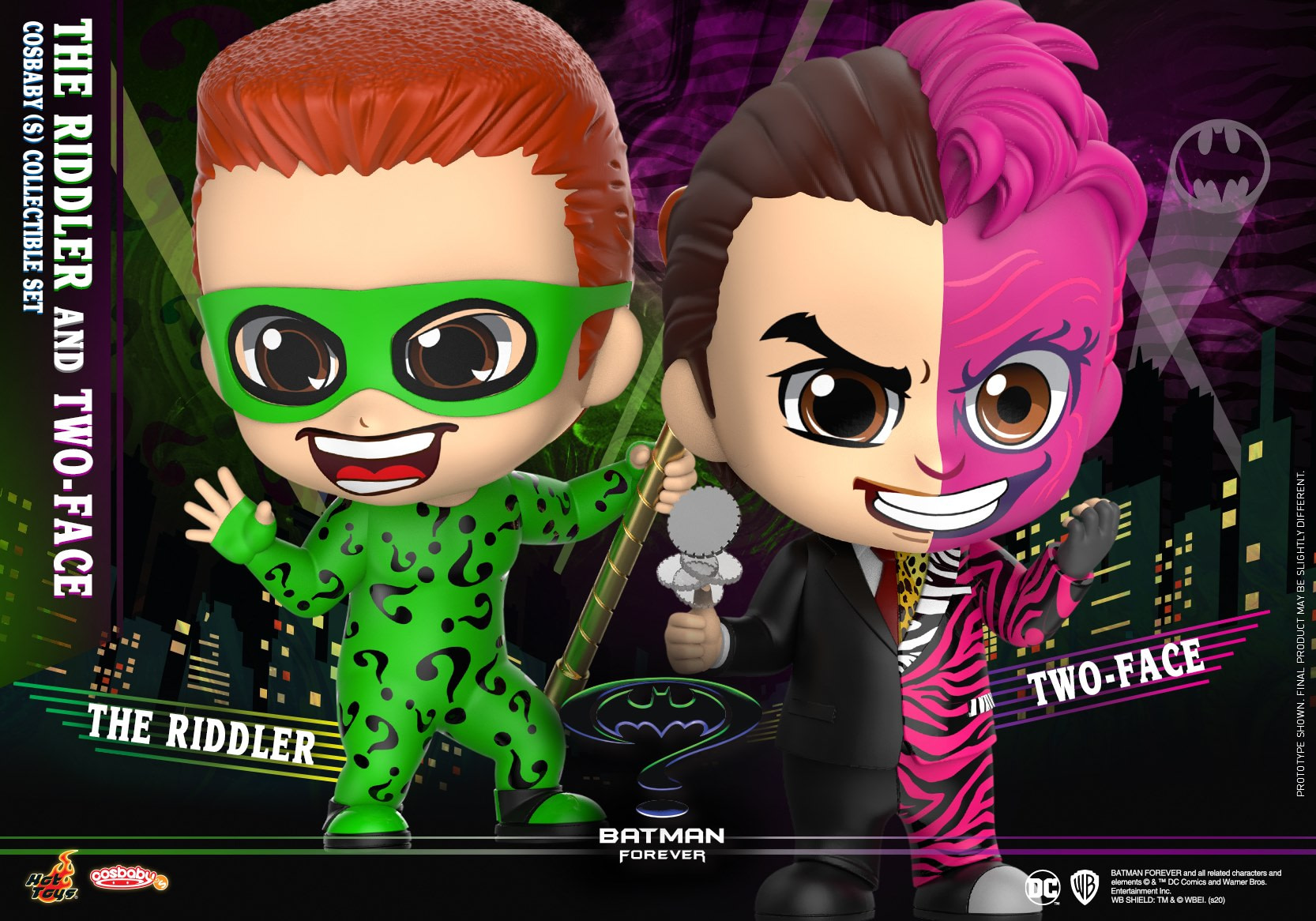 """Batman Forever"" Cosbaby Figures Arrive with Hot Toys"