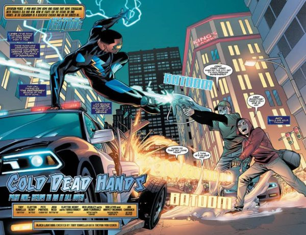 Black Lightning #1 art by Clayton Henry and Pete Pantazis