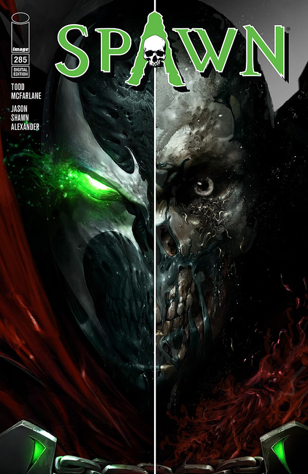 Spawn #285 cover by Francesco Mattina