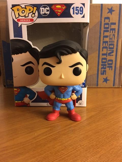 Legion of Collectors Superman Box Classic Superman Pop