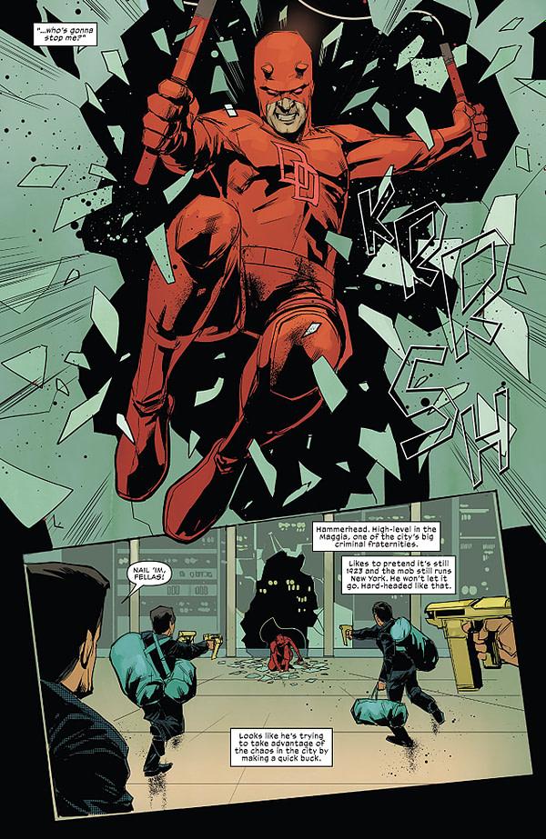 Daredevil #606 art by Phil Noto