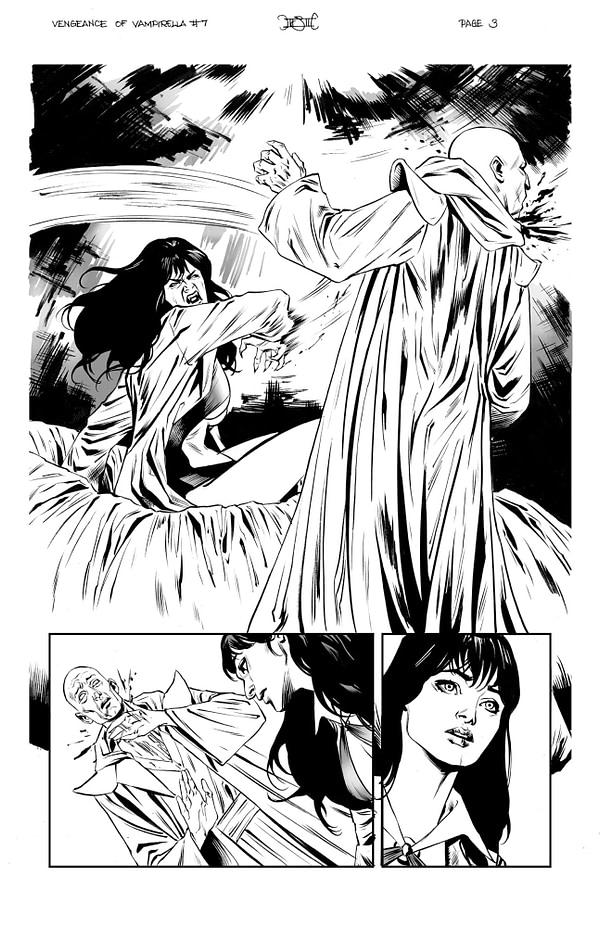 Vampirella vs. Vampirella in Vengeance of Vampirella #7 Early Art Preview