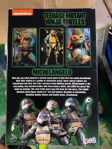 NECA Gamestop Exclusive TMNT 1990 Michelangelo 3