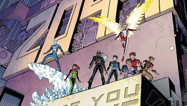 X-Men: Blue #17 cover by Arthur Adams and Peter Steigerwald