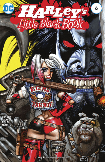 Is Harley Quinn's Little Black Book #6 the First 'Appearance' of Lobo's Daughter, Crush?