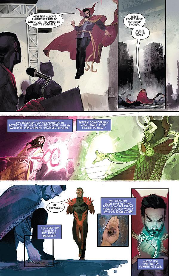 Doctor Strange: Damnation #1 art by Rod Reis