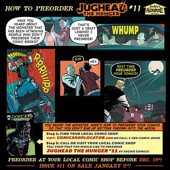 JUGHEAD HUNGER #9 ARCHIE COMICS NOVEMBER 2018