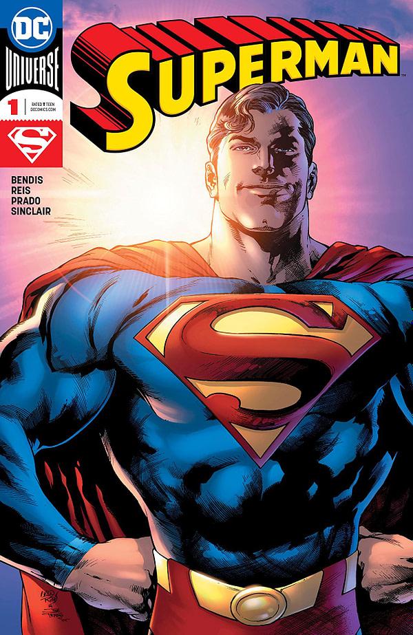 Superman #1 cover by Ivan Reis, Joe Prado, and Alex Sinclair