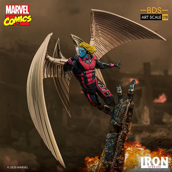 Archangel Statue from Iron Studios, based on the Marvel Comics X-Men character.