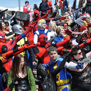 Marvel cosplayers at MCM London 2013