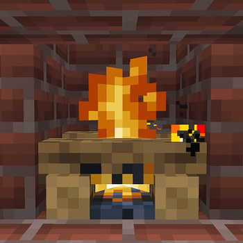 """""""Minecraft"""" Offers Their Own Yule Log Fire"""