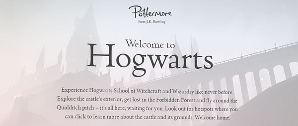 rowling pottermore hogwarts