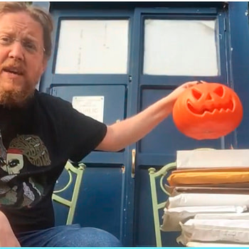 Unboxing My Mail to Give As Much Away For Hallowe'en As Possible
