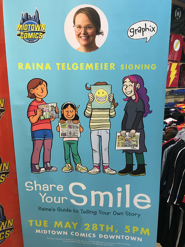 Raina Telgemeier Draws Crowds of Parents and Children at Midtown Comics Signing