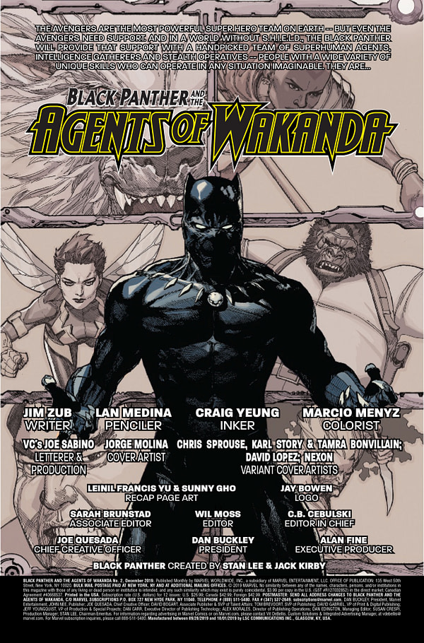 Black Panther and the Agents of Wakanda #2 [Preview]