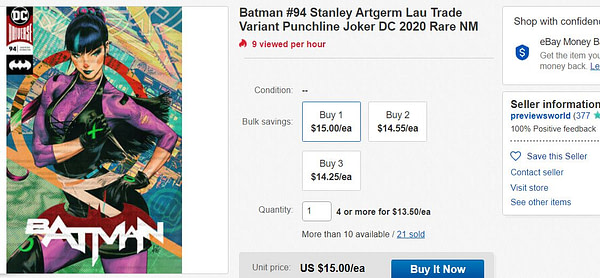 Don't Pay $15 For Batman #94
