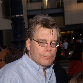 Author STEPHEN KING at the Los Angeles premiere of The Manchurian Candidate. July 22, 2004