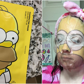 homer simpson sheet mask