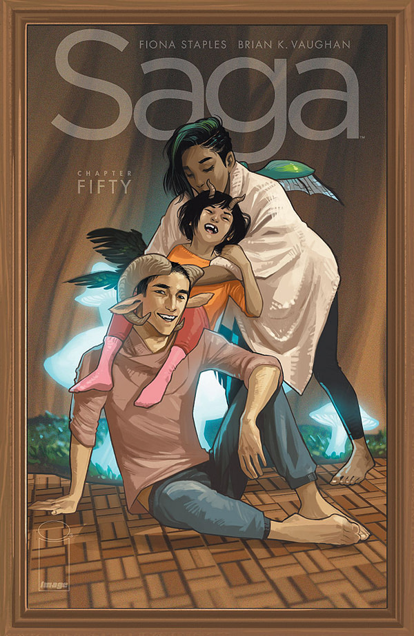 Saga #50 cover by Fiona Staples
