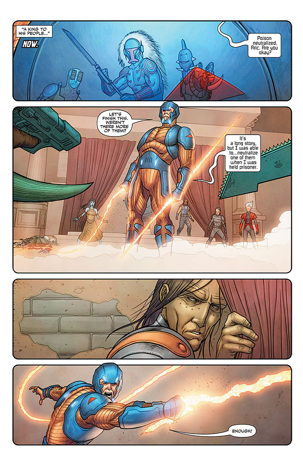 X-O Manowar #13 art by Ryan Bodenheim and Andrew Dalhouse
