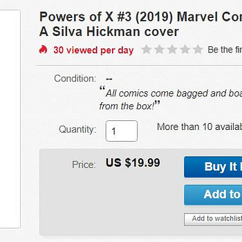 Comics Shops Still Unprepared For HOXPOX as Powers Of X #3 Hits $20 on Day Of Release