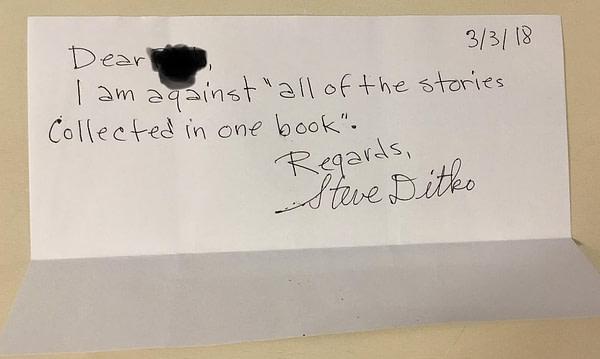 Steve Ditko's Mr. A. Collection Letter