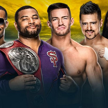 It's the Street Profits versus Angel Garza and Austin Theory compete for the titles at WrestleMania 36.