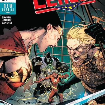 Justice League #6 cover by Jorge Jimenez and Alejandro Sanchez