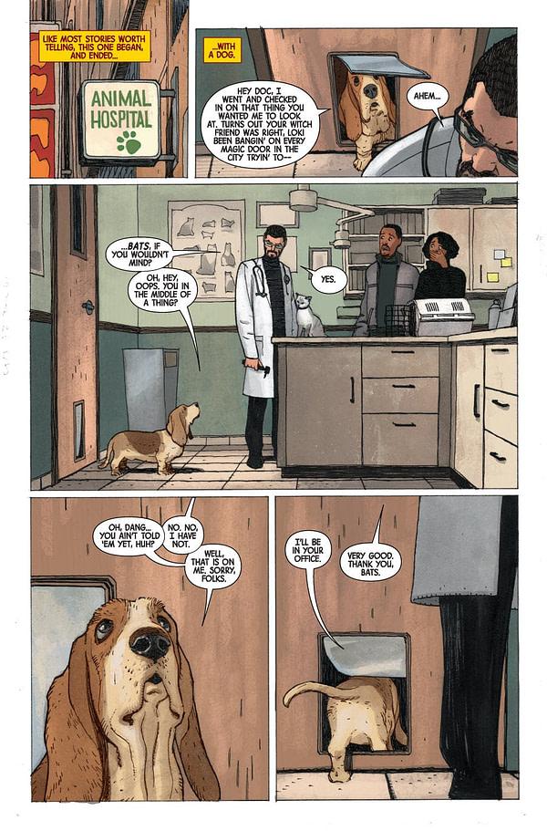 Doctor Strange #382 art by Gabriel Hernandez Walta and Jordie Bellaire