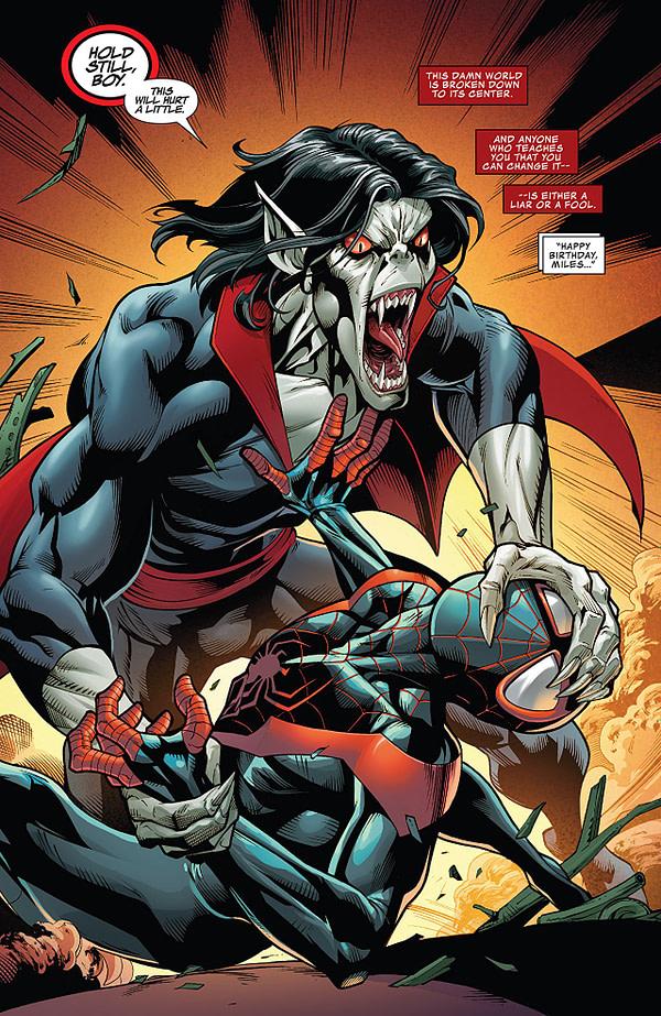 Spider-Man Annual #1 art by Mark Bagley, Roberto Poggi, and Carlos Lopez