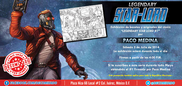 Legendary Star-Lord exhibition