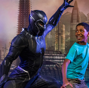 Black Panther meet-and-greet california adventure