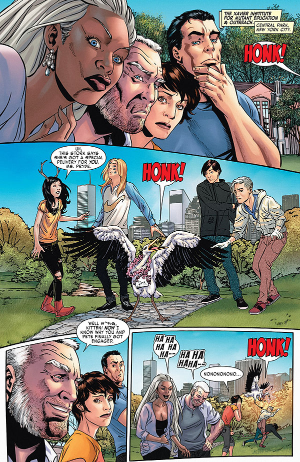 X-Men: Gold Annual #1 art by Alitha E. Martinez, Craig Yeung, Jay David Ramos, and Dono Sanchez-Almara