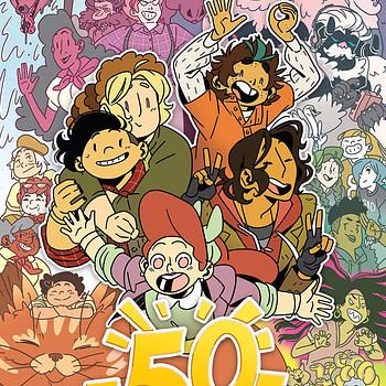 Lumberjanes #50 cover by Kat Leyh