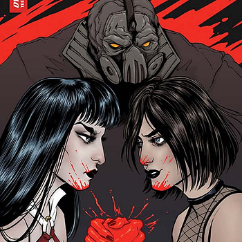 extended previews of Hack/Slash vs. Vampirella, Centipede #4
