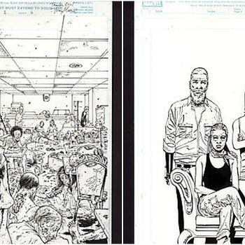 Comic Connect Walking Dead Art Auction Collage