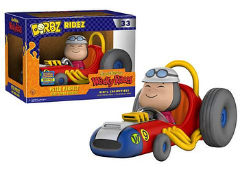 SDCC Funko Hanna Barbera Wacky Races Peter Perfect with Turbo Terrific Dorbz